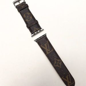 Watch band LV re-cycle from bag brown